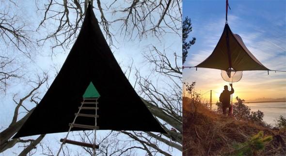 Utiles casas colgantes para turistas y campamentos
