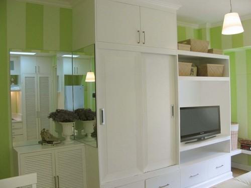 Decoración de interiores paleta de colores verdes