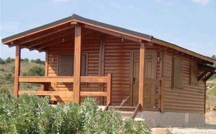 10 dise os de casas de madera - Interiores casas de madera ...