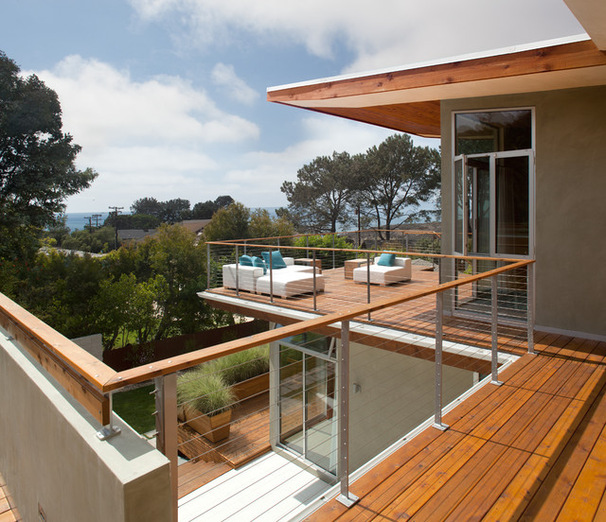 vista desde un balcón elegante