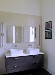 Una vista del baño de la casa