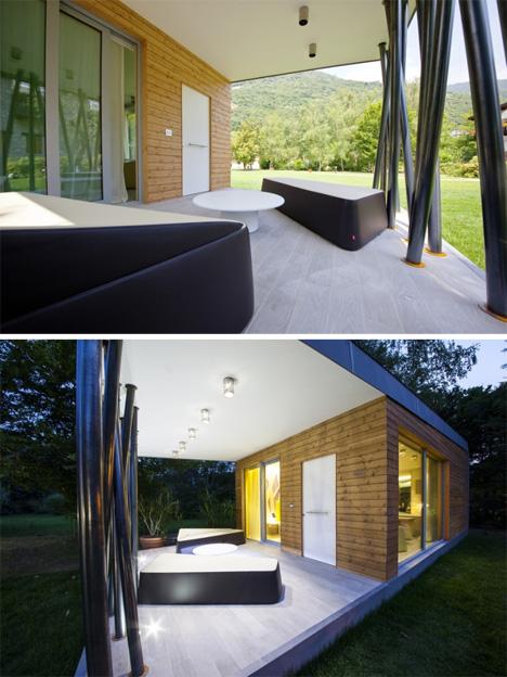 parte exterior de la casa