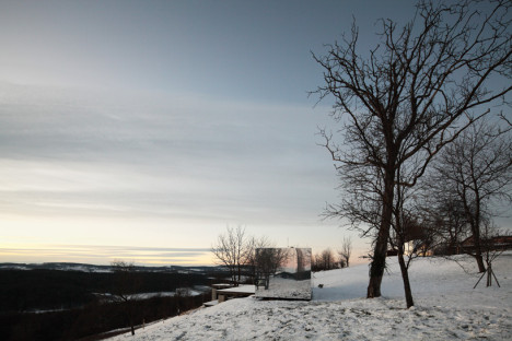 Un día nublado y en invierno