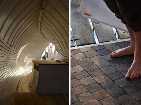 Diseñada para caminar descalzo, es una interesante vivienda