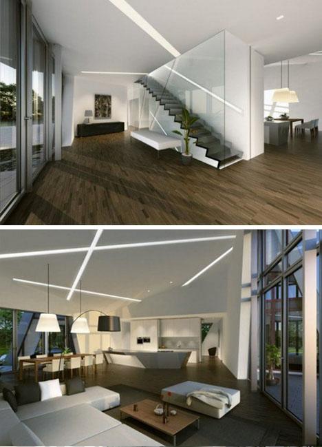 El diseño interior es perfecto y muy moderno e interesante
