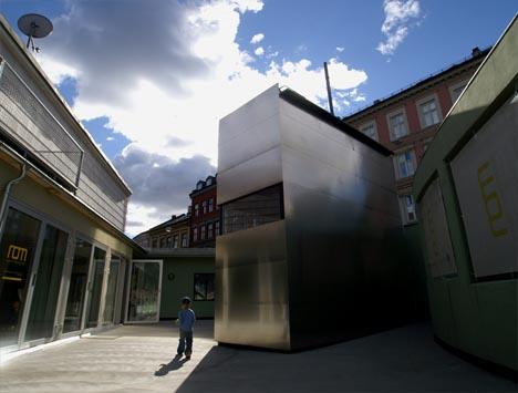 Moderna casa tipo caja