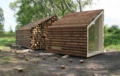 elegante diseño de madera