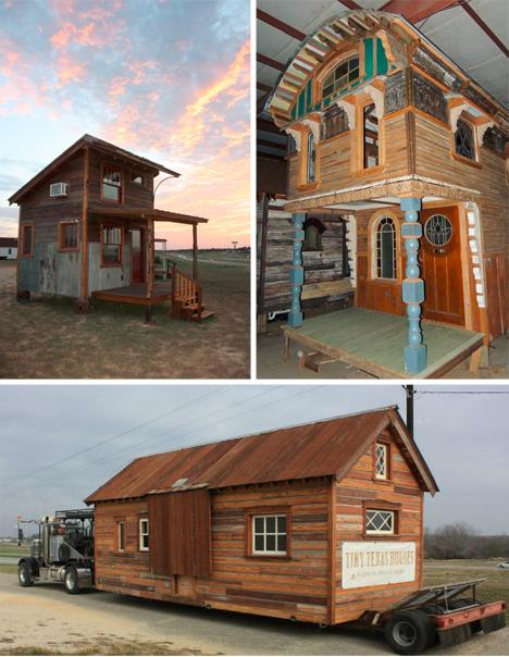 Construcciones de madera modernas y recicladas