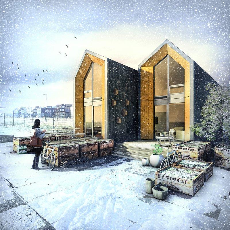 Baño Portatil Pequeno:Heijmans: casa portátil y prefabricada construida en un día