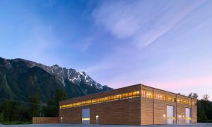Hemsworth-Architecture-BC-Passive-House-Factory-Exterior-Dusk-1020x610