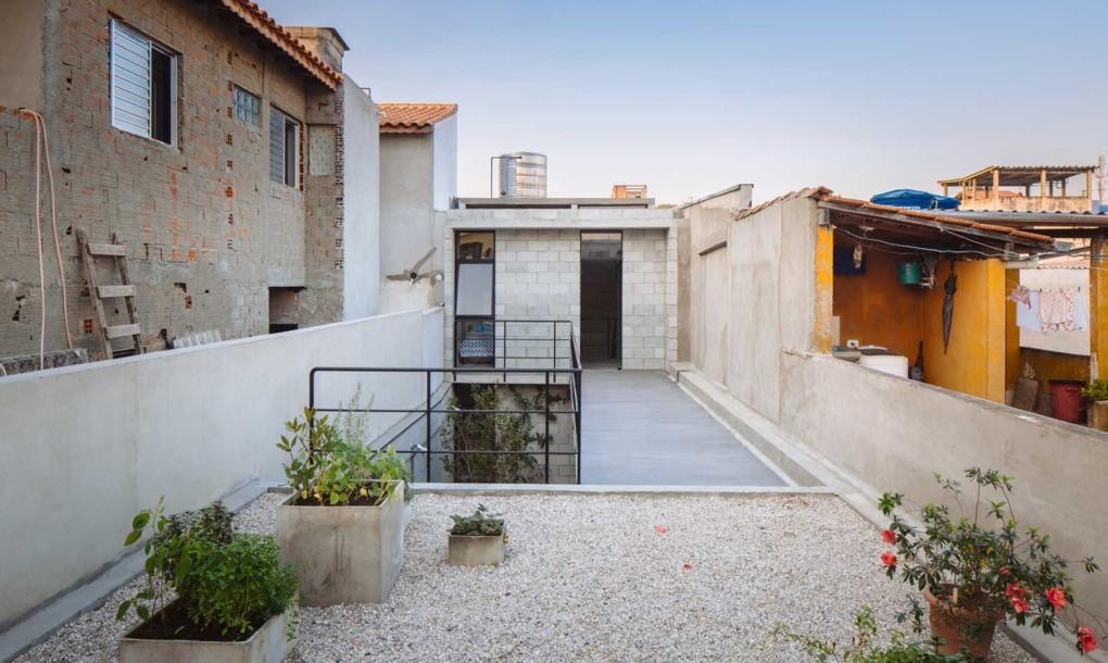moderna terraza abierta