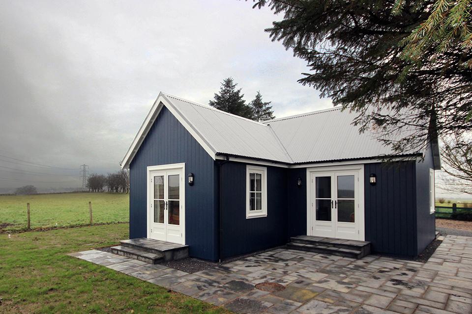 una casa para campo abierto