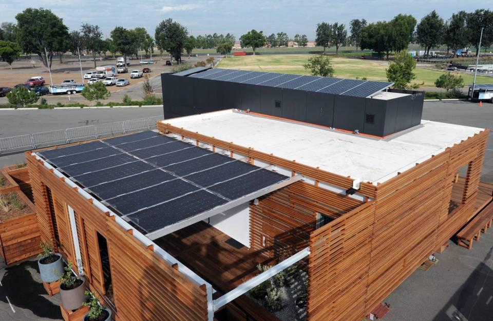 Paneles solares muy modernos