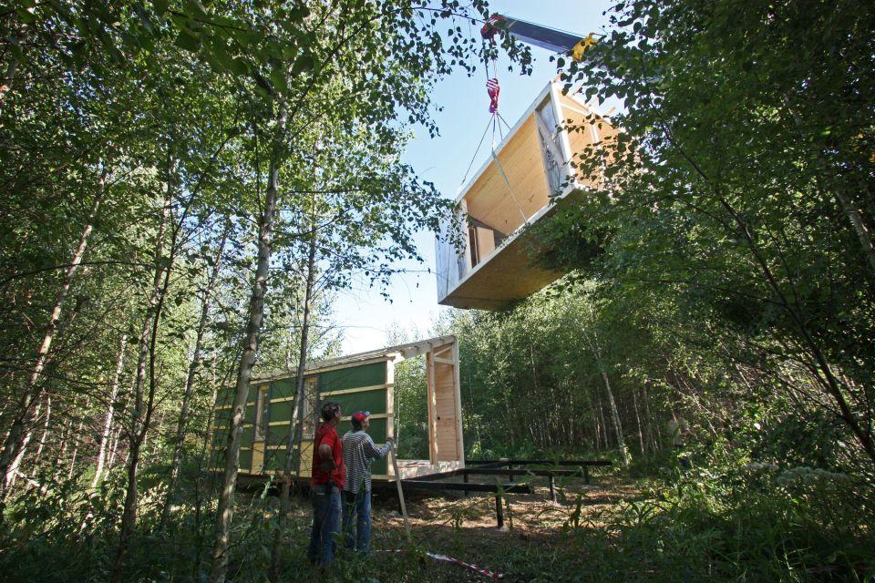 moderno hogar en el bosque