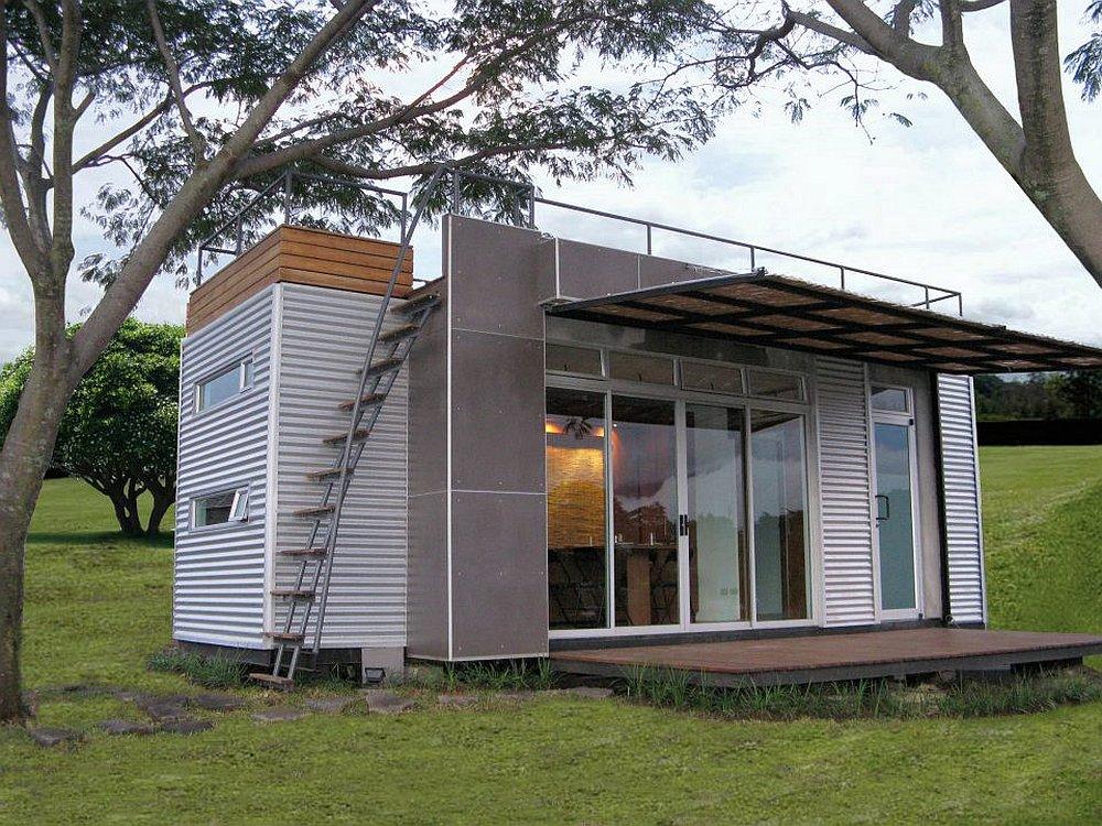 Una casa contenedor moderna