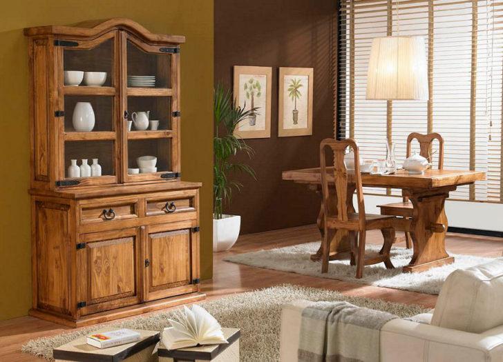 Muebles Rusticos Modernos Madera. Conjunto Muebles Madera Comedor ...