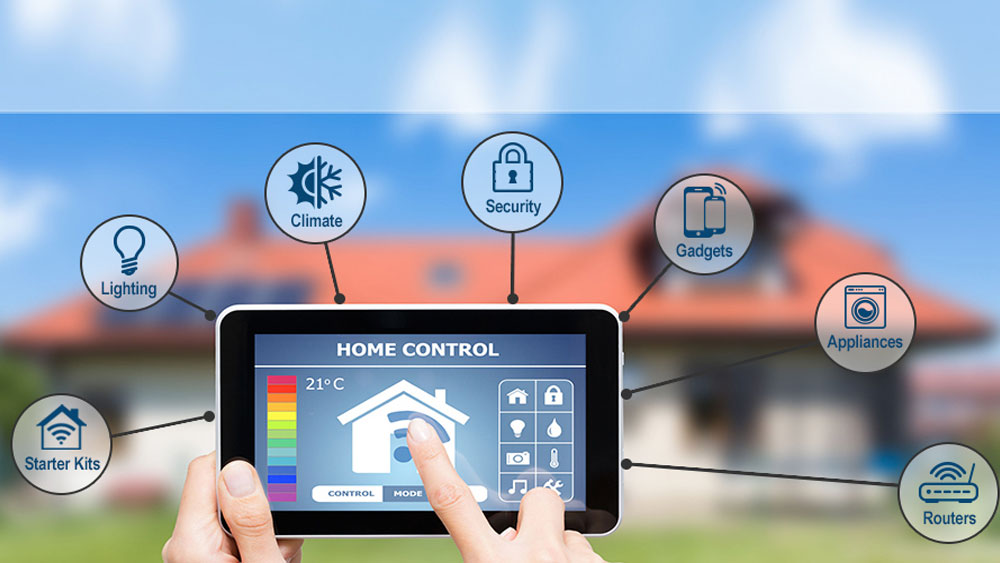 casa inteligente domotica moderna